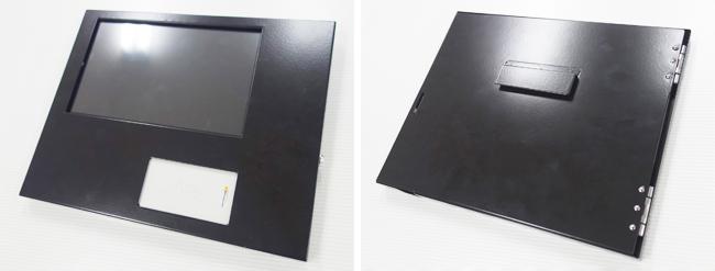 登降園管理用タブレット収納板金ケース1