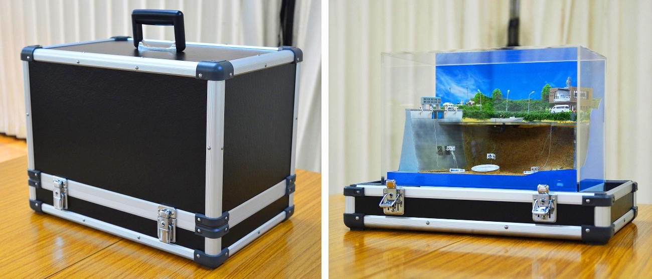 水中ドローン展示用ジオラマ収納ケース1