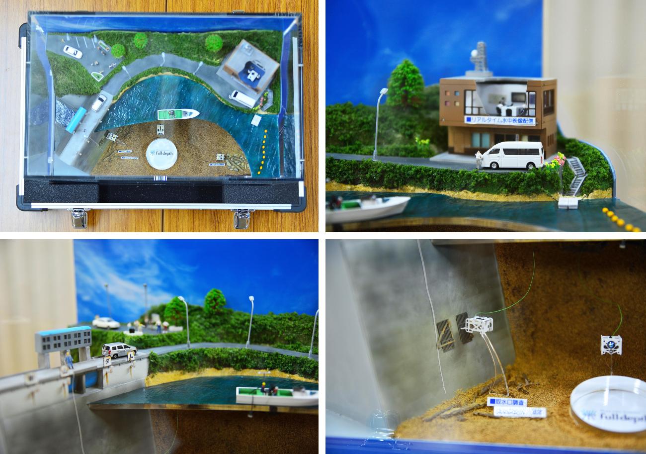 水中ドローン展示用ジオラマ収納ケース3
